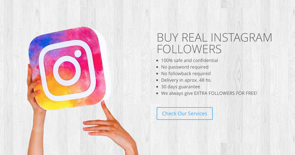 Buy real followers on instagram